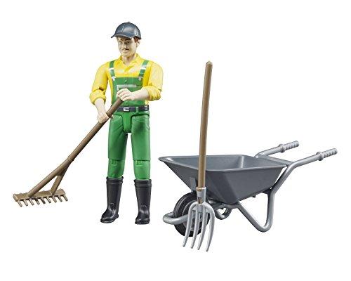 Bruder 62610 - Figurenset Landwirt mit Zubehör