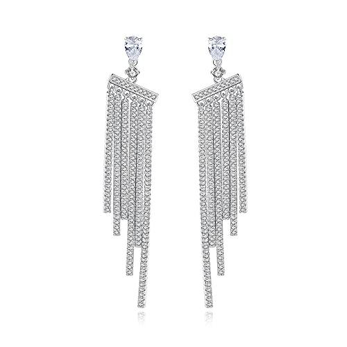 YFZCLYZAXET Earrings Women Studs Fashion Casual Earrings Hao Shi Long Tassels Women'S Earrings Simple Popular Earrings