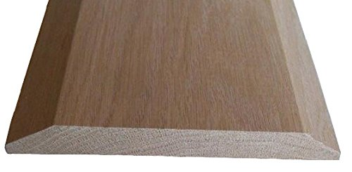 Solid Red Oak Interior Threshold - Style A (6 1/2 inches x 48 inches)
