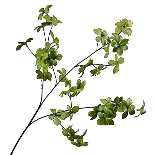 Imagen de flores falsas Simulación Rama Flor de hojas de múltiples pedales, Planta de la hoja de la decoración de escritorio interior, entrada de la sala de modelos Decoración de la planta verde para