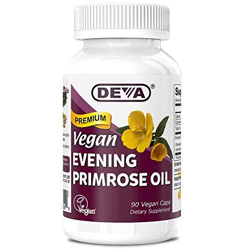 Deva Vegan Evening Primrose Oil, Organic, Cold-Pressed, Unrefined, 90 Capsules