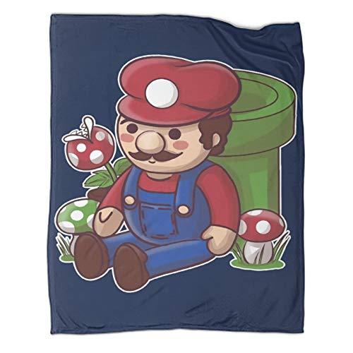 Xaviera Doherty Manta de sofá Super Mario Game Comics, 180 x 230 cm, mantas cálidas para niños, adultos, mujeres, hombres, utilizadas en sillas, sofás, salas de estar y dormitorios.