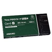 アマノ タイムパック用TimeカードB 6欄 緑 TIME P@CKカードB(6) 00069474【まとめ買い3箱セット】