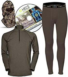 HECS Hunting - Energy Concealing Base Layer - Includes Thermal Shirt, Pants and Headcover