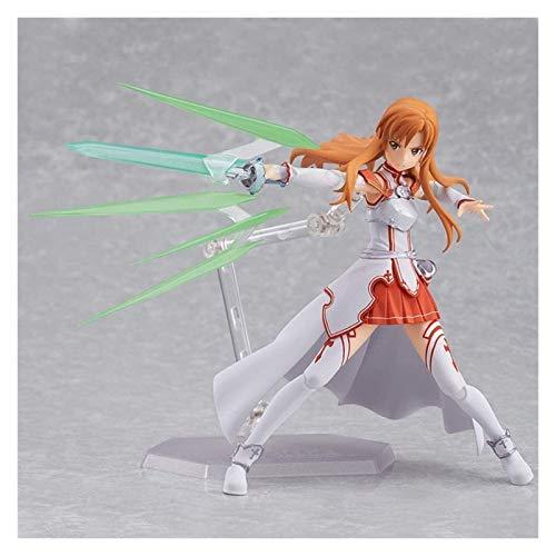 XIAOGING Sword Art Online Yuuki Asuna Animado Figura 14cm-VRMMORPG Asuna-Figurita Decoracion Adornos coleccionables animaciones de Personajes de Juguete Modelo