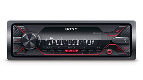 Sony DSX-A210UI MP3 Autoradio (mit Extrabass, USB, AUX Anschluss und iPod/iPhone Control Funktion) Beleuchtung: rot