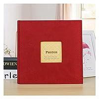 フォトアルバムは4x6の写真、スエードカバー付きの写真アルバム、大容量、200ポケット(色:赤)を保持します