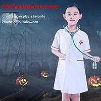 ドクターラボコート子供用ロールプレイコスチューム医師医療医療クラブドレスセット幼児