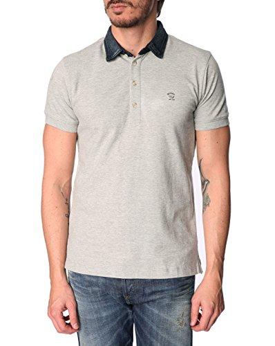 Diesel Herren Basileus Polo Shirt, Grau, Medium