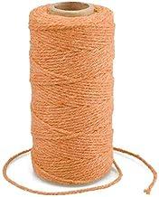 G2PLUS Oranje Katoen String Twine, 100 M Gift Wrapping Bakers String, 2 MM Handwerk Decoratieve Cord Twine voor DIY Gift D...