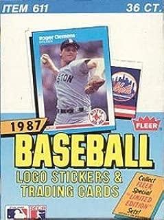 1987 fleer baseball box