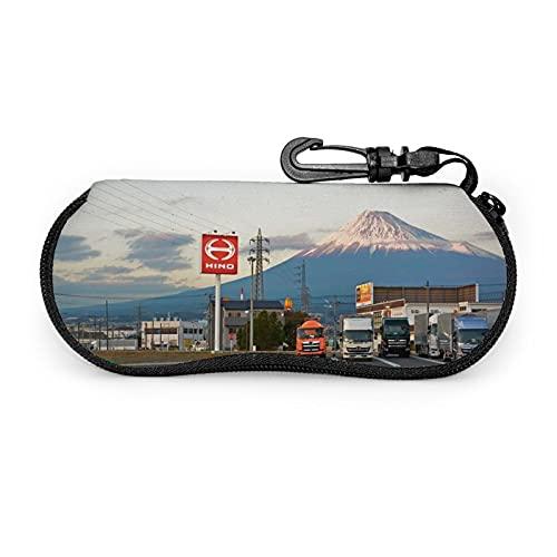 Funda suave Fuji para gafas de sol de montura de camiones, ultra ligera, portátil, con cremallera, funda suave, bolsa de seguridad para gafas con cremallera