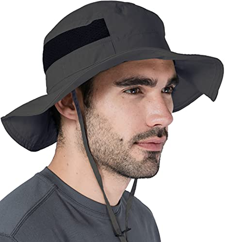 Fishing & Hiking Boonie Sun Hat with UV Protection for Men & Women - Safari & Camping Outdoor Bucket Hats - UPF 50+ Wide Brim Summer Cap for Beach & Gardening - Skin Cancer Foundation Recommended