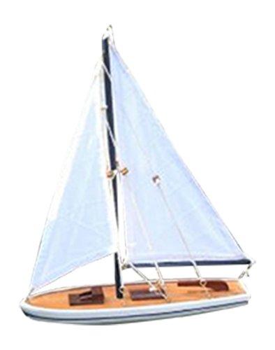 "Hampton Nautical It Floats Floating Sailboat, 12"", Blue"