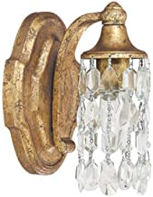 Capital Lighting 8521AG-CR Blakely 1-Light Wall Sconce, Antique Gold Finish with Clear Crystal Accents Shades