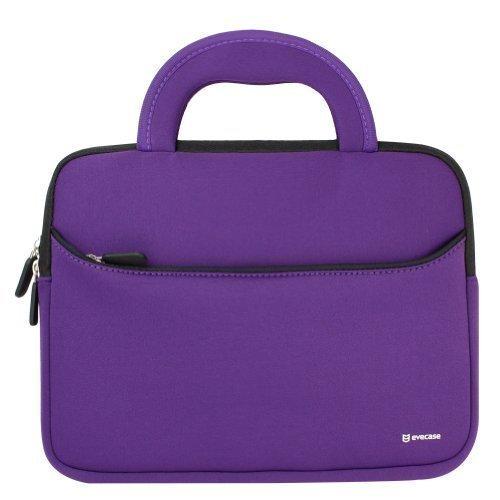 evecase® beschermhoes van neopreen met handgreep (265 x 200 x 20 mm) – violet en zwart voor tablet 8,9 tot 10,1 inch (8,9 tot 10,1 inch) voor iPad Air, iPad Pro, Samsung Galaxy Tab 4 10.1