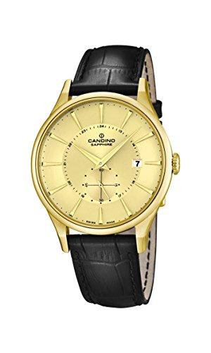 Candino Herren Analog Quarz Uhr mit Leder Armband C4559/2