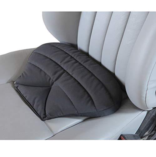 Big Ant Orthopädisches Sitzkissen Auto - Autositzkissen Auto Sitzauflage für Auto, LKW, Bürostuhl und Rollstuhl (Schwarz)
