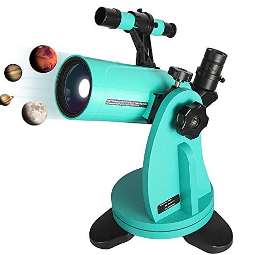 DOBSONIAN MOUNT가 있는 SARBLUE MAKSUTOV-CASSEGRAIN 망원경 60 60MM APERTURE 750MM FOCAL LENGTH FINDERSCOPE 및 PHONE ADAPTER 어린이 성인 천문 초보용 탁상 망원경