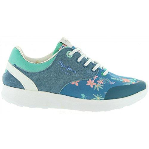 Sportschuhe für Damen und Mädchen Pepe Jeans PGS30292 Amanda 548 Blue Print Schuhgröße 33