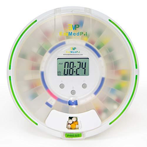 EziMedPil Automatic Pill Dispenser with Alarm,...