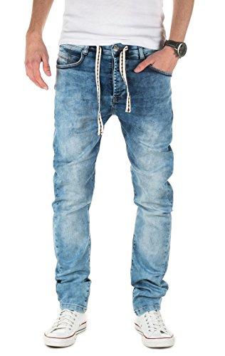 Yazubi Herren Sweathose in Jeansoptik Desmond - Jogginghose in Jeans-Look, Bluestone (4218), W30/L34