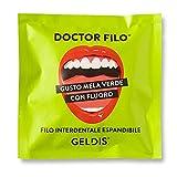 Geldis® Filo Interdentale Doctor Filo® Cerato aromatizzato Mela Verde, con Fluoro, Delicato su Gengive Sensibili, 100% Vegetale, 30 mt