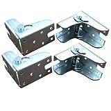 Soporte plegable de 4 piezas con bisagras y refuerzos, patas plegables invisibles, para patas plegables, bancos de trabajo plegables, mesas plegables de cocina