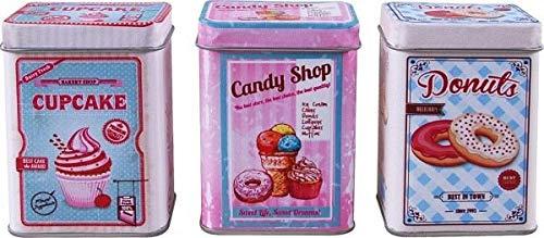 Christian Tanner- Juego de latas de Metal para Cupcakes, Tiendas de Caramelos, Donuts. (45008801)