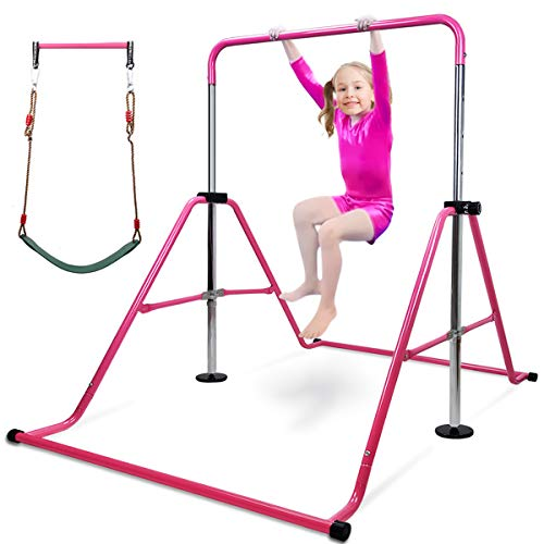 in budget affordable Gymnastics barbells for kids with swing seats, height-adjustable gymnastics training for juniors …