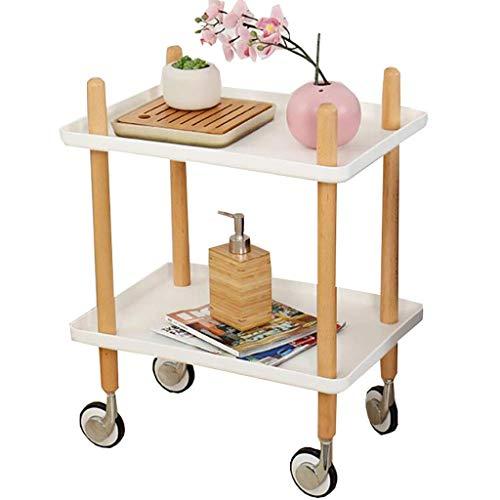 Nachttische Sofatische Startseite D & eacute; cor Produkte Wohnzimmermöbel Snack Couchtisch mit Ablagekorb Komfort Mobil mit Rollen Espresso-Schlafzimmer