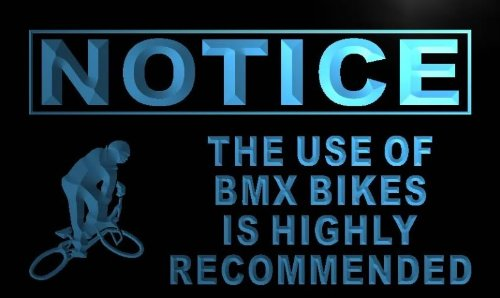 ADVPRO Insegna al Neon m724-b Notice Use of BMX Bikes is Recommended Neon Sign