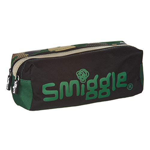 Smiggle Twin Zip Pencil Case for Boys and Girls from The Block Collection...