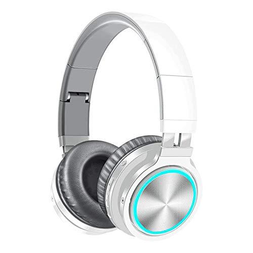 Desconocido Generic Estéreo Great Bass Headset Headset Ligero para TV Computadora Celular - Blanco Gris