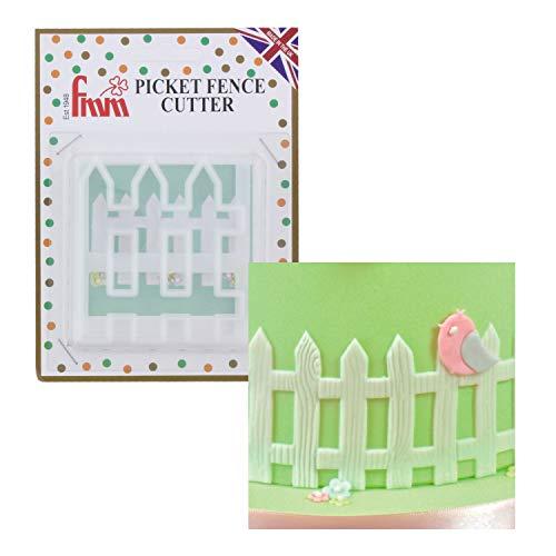 1 FMM Zaun Ausstecher aus Kunststoff | Gartenzaun | Tortendeko | für Fondant und Blütenpaste