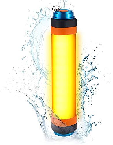 Hasey Linterna LED de camping recargable por USB, resistente al agua IP68, portátil, para viajes al aire libre