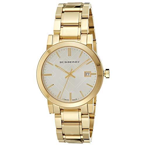 Burberry BU9003 - Reloj de pulsera para hombre, chapado en oro iónico de 38 mm