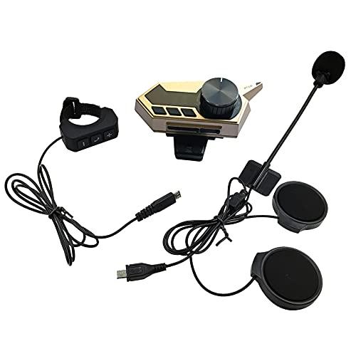 UTDKLPBXAQ Auriculares Bluetooth para Casco de 1000 mah, a Prueba de Agua, 1000 mah, Auriculares Impermeables para Motocicleta, intercomunicador, Auriculares para Conducir, Llamadas, navegación