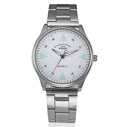 DECTN Reloj de Pulsera Venta Reloj Hombre Moda Hombre Cristal Acero Inoxidable Reloj Analógico Cuarzo Relojes de Pulsera Negocio, 3