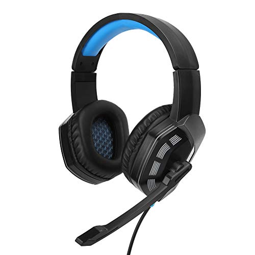 Gaming Headset, 7.1 Surround Sound Gaming Headphone with Noise Reduction Microphone RGB LED Light for Xbox One PC Stereo Bass Game Headset (Blue)