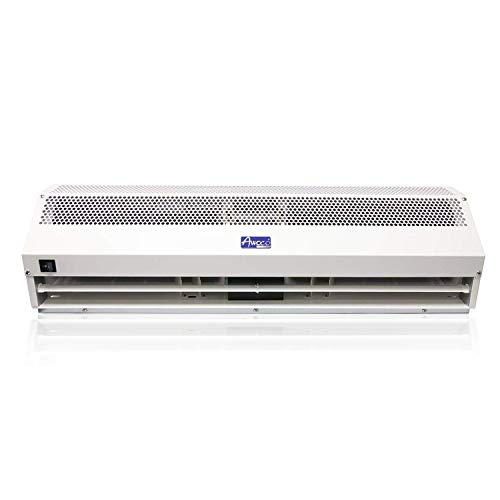 """Awoco 42"""" Super Power 2 Speeds 1350CFM Commercial Indoor Air Curtain, UL Certified, 120V Unheated - Free Door Switch"""