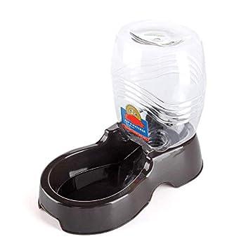 Flexzion Distributeur d'eau pour Animal Domestique, Noir, 900 ML – Remplissage Automatique de l'Eau, Fontaine, Bol et Support Portable pour Petit Chien, Chat, Animal 0,9 l