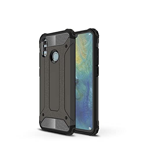 GUOQING Carcasa de telefono Funda Protectora para Huawei Honor 10 Lite Case, para Huawei Honor P Smart 2019 Case, TPU + PC Dual Capa Dual Layer Hybrid Hybrid Protective Case (Color : Bronze)