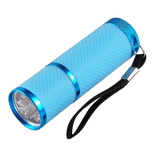 ZYC Mini lampada UV a tre colori per asciugare le unghie, per manicure e gel, colore blu