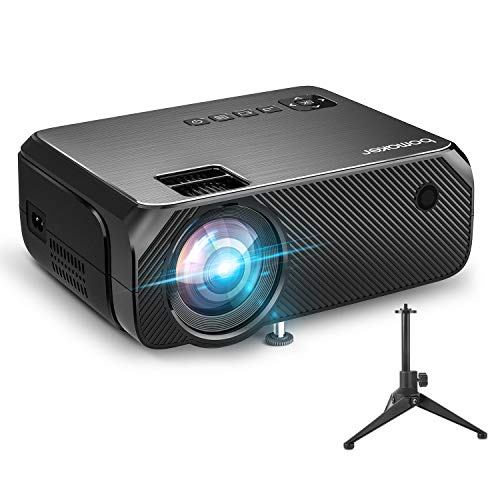 WiFi Vidéoprojecteur, BOMAKER 6000 Lux Wireless Screen Mirroring Outdoor Movie Projecteur, Full HD 1080p HDMI Projecteur Soutien 300'' Display et HDMI USB VGA, pour Android / iOS / Laptops / PC