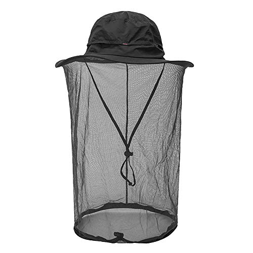 Peicees Mosquito Head Net Hat, Fishing Hat Safari Hat Sun Bucket Hat Adventure Hat with 360° Net Mesh Protection from Insect Bug Bee Flies Mosquito Gnats for Men Women, Outdoors Hunting Camping Hiking