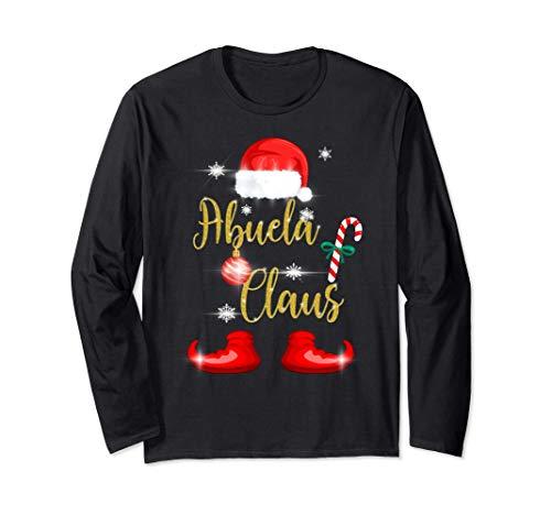 Abuela Claus Pijama Familia Divertido Regalo Navidad Abuelos Manga Larga