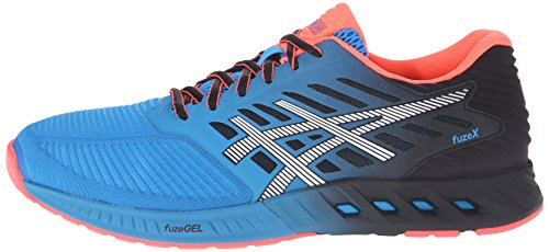 Asics FuzeX Hommes Synthétique Chaussure de Course, Methyl Blue-White-Black, 44