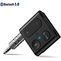 1Mii Tiny Bluetooth 5.0 Receiver Car Adapter with Wired Headphones