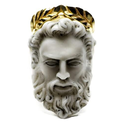Acreny Zeus Anillo forma de cabeza de anillo, para hombres y mujeres, joyería de dedo de mano, regalo vintage
